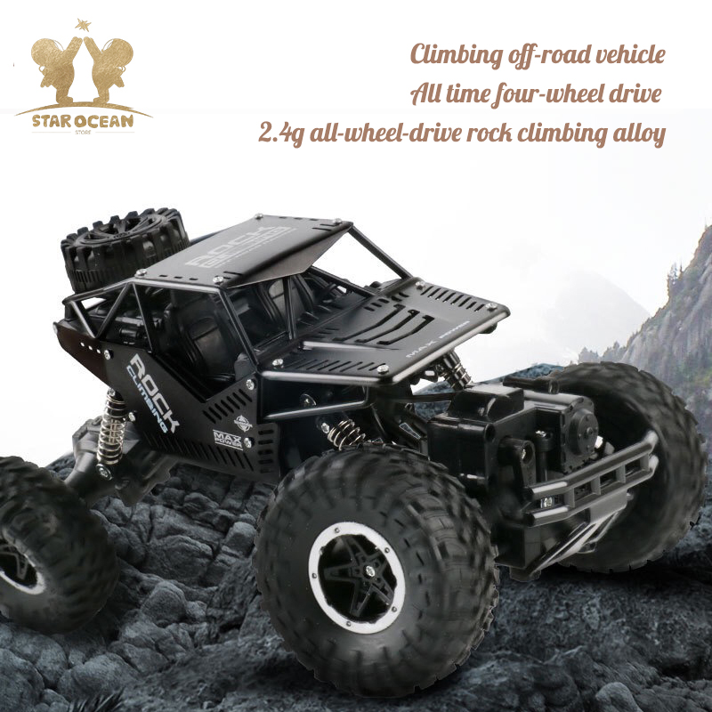 Remote Control Offroad Vehicle Toy Driving Car 2.4G 4C Drift Rock Crawler RC Car Mud/Rock/Stone Moutain Driving Outdoor Fun image