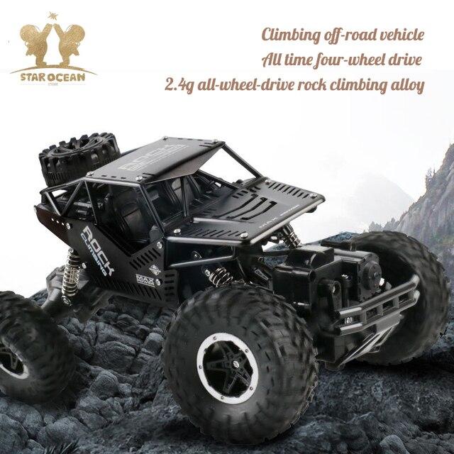 Voiture de conduite télécommandée pour véhicule tout terrain 2.4G 4C dérive roche chenille voiture RC boue/roche/pierre de montagne conduite en plein air