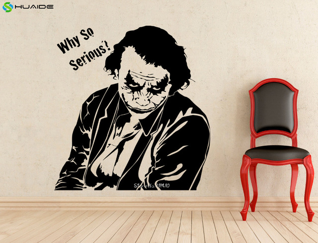 wall decals quote joker wall stickers why so serious wall vinyl