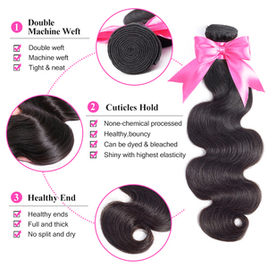 Image 3 - ISEE HAIR 3 Bundles Brazilian Body Wave Hair Extension Remy Human Hair Nature Color Free Shipping Brazilian Hair Weave Bundles