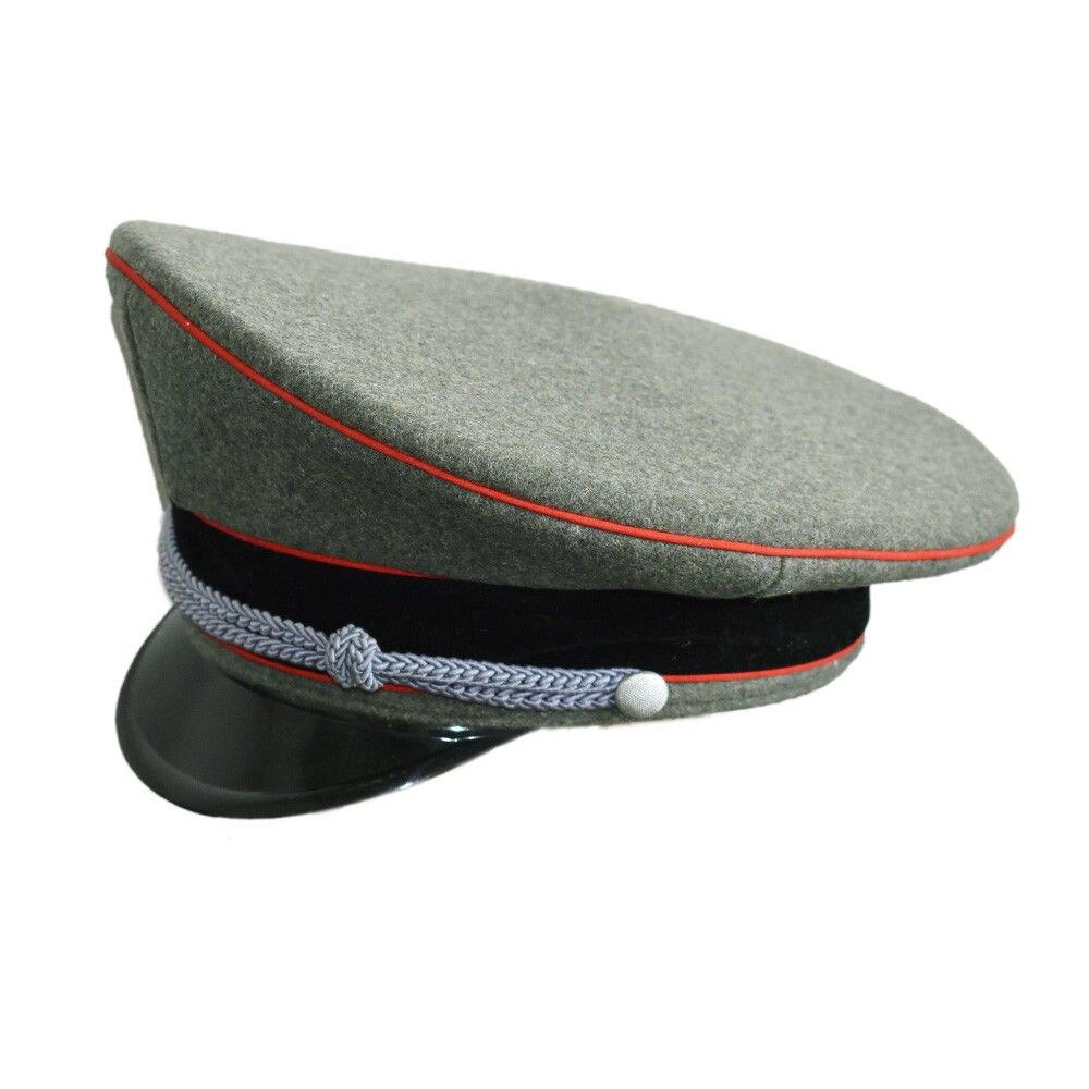 7bbdfa48c WW2 GERMAN COLLECTIBLES WOOLEN OFFICER BRIMMED HAT CAP GREEN -SIZE 57 58 59  60 cm