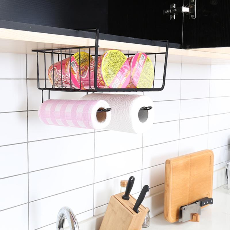 Colgando gabinete Percheros organizador titulares armario rack de almacenamiento estante cocina dormitorio cajón organizador cesta