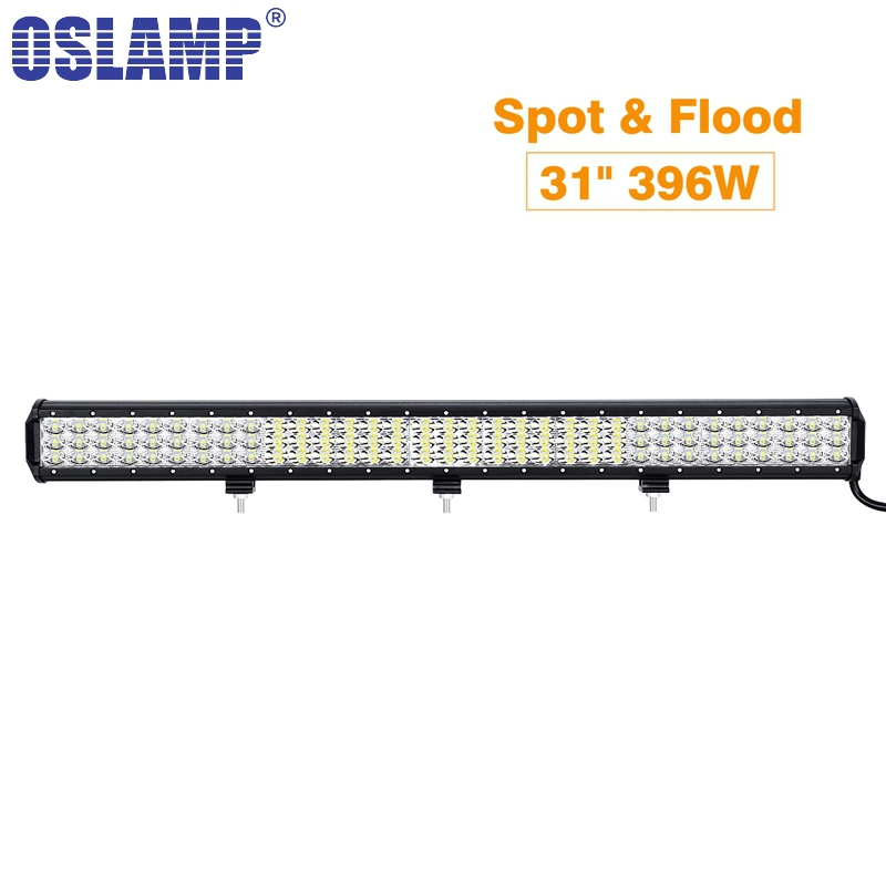 Oslamp Work Light 31inch 296W Triple Row LED Light Bar With Slide Brack Offroad Combo Beam For 4x4 4WD SUV ATV RZV Trailer Truck 23 inch 240w atv led work light bar combo beam dc12v 24v suv utv pickup wagon 4wd driving lamp 4x4 offroad light bar