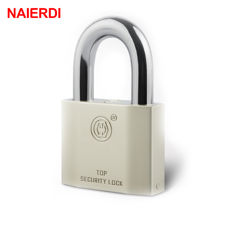 5PCS NAIERDI B7 Series Super B Grade Padlocks Silver Portable Anti Theft Rustproof Luggage Suitcase Gate