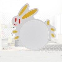 Кролик светодиодный потолочный светильник современный мультфильм Спальня свет творческих детская комната мультфильм Спальня легкое бело