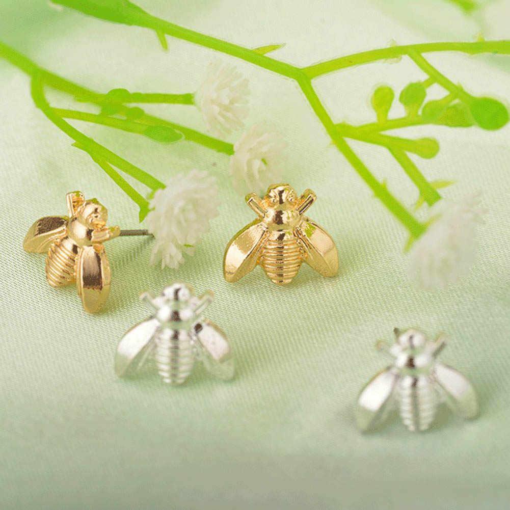 Carino Piccolo Ape Orecchino Dei Monili In Oro/Argento Colore Honey Bee Orecchini Della Vite Prigioniera Degli Orecchini Unici Gioielli Per Le Donne