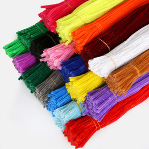 Image 4 - 100pcs 30cm Chenille Stems Twist Wire Stems Pipe Cleaners Children Kids Handmade Education Decorative Fake Flowers & Wreaths