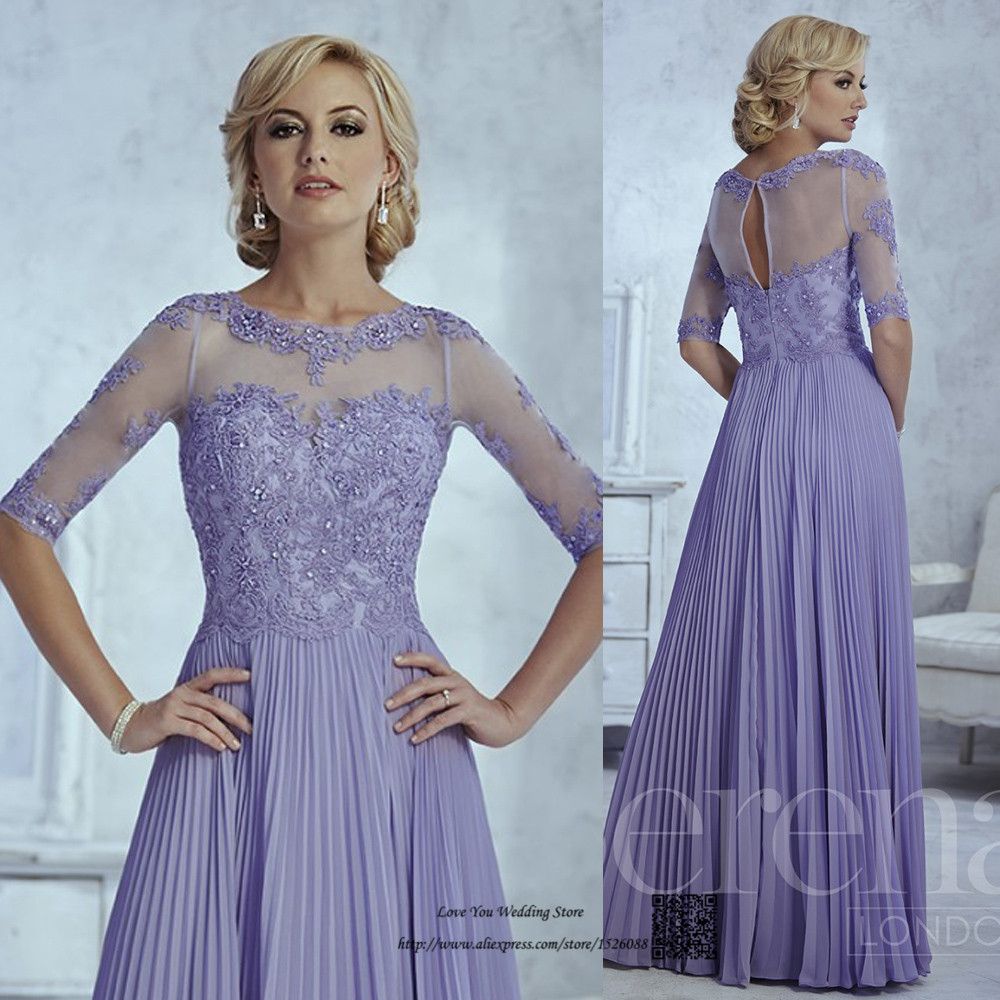 Online Shop Elegant Lavender Plus Size Mother of the Bride Lace ...
