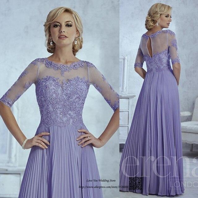 Elegante Lavendel Plus Size Mutter der Braut Lace Kleider Vestido de ...