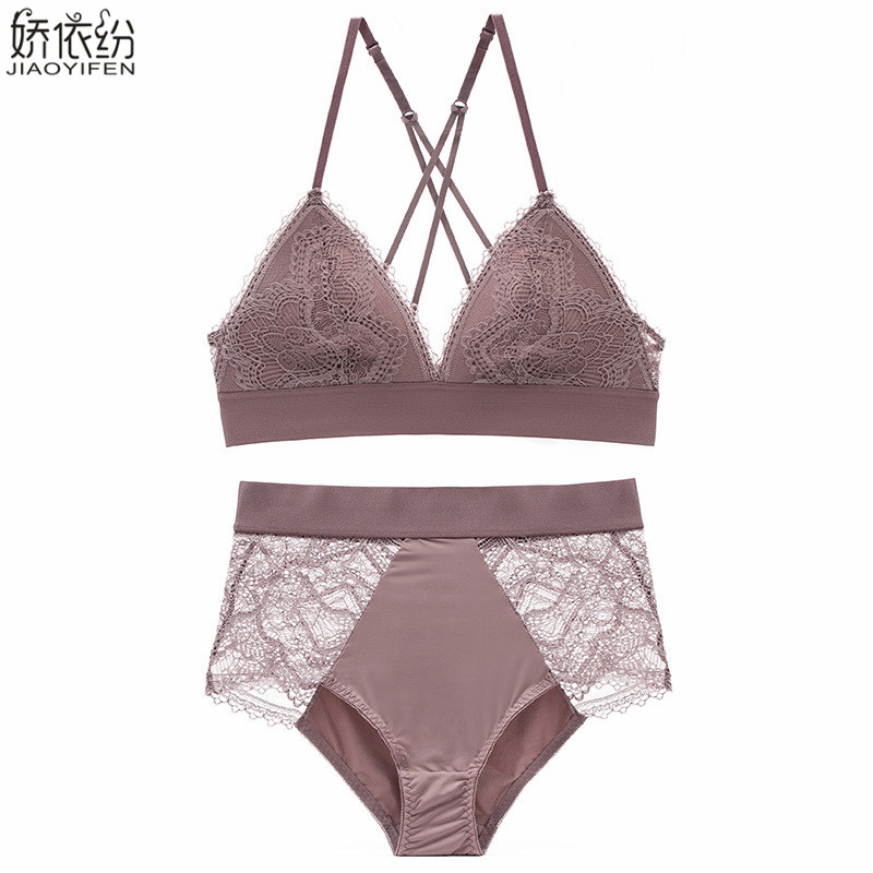 20fd35a91f7 Detail Feedback Questions about French bra set ultra thin lace underwear  sexy backless women bralette high waist panty S.M.L.XL lingerie push up bra  brief ...
