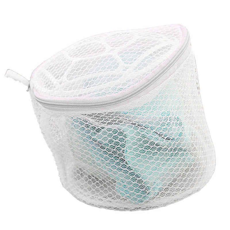2018 Conveniente Sutiã Roupa Interior Lingerie Sock Wash Lavanderia Sacos de Casa usando Roupas de Lavar Roupa Ajuda a Lavagem Líquido Saco de Rede de Malha Zip # RT04