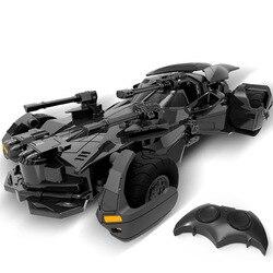 1:18 Batman vs Superman Liga de la justicia coche eléctrico de Batman RC para niños juguete modelo de regalo de simulación pantalla batimóvil