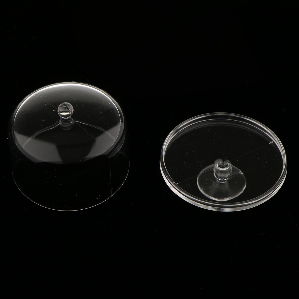 2Pcs Dollhouse Miniature 1:12 Clear Dessert Snack Can with Half Round Lid