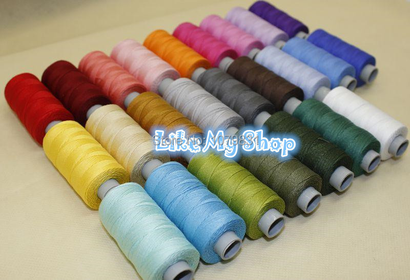 Heavy duty COTTON thread thick sewing thread machine/hand sewing thread 150 yards x 26 colours high strength Europe