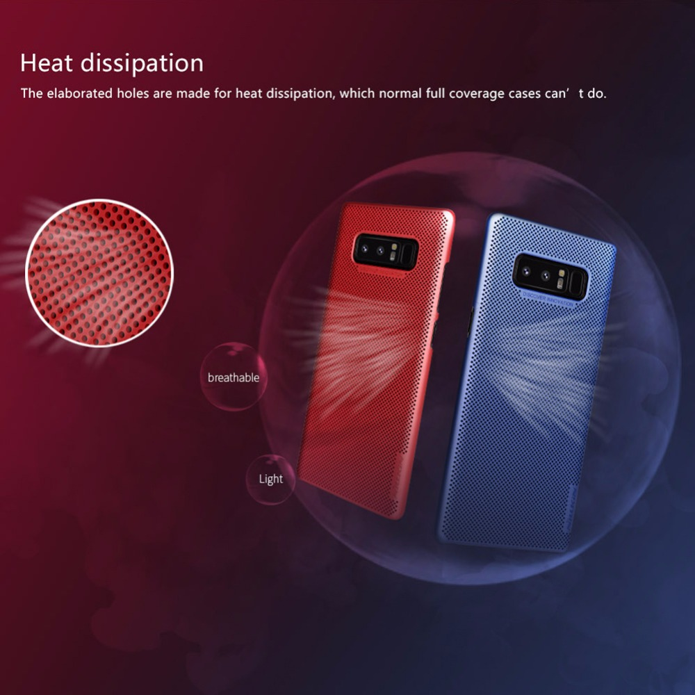 NILLKIN Heat Dissipation PC Cases For Samsung Galaxy Note 8 Air Case Luxury Full Protect Cover