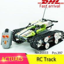 Legoing Technic Series 42065  397pcs RC Track Remote-control Race Car Model building blocks Bricks toys for children Gift