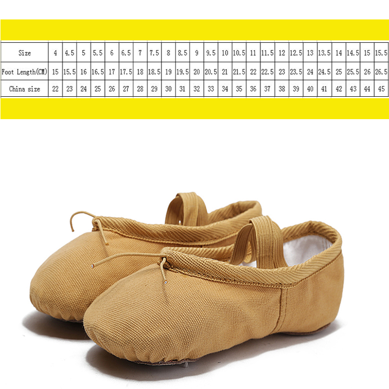 Blomstens Secret Canvas Soft Ballet Shoes Dansskor Yoga Shoes Barnens - Gymnastikskor - Foto 4