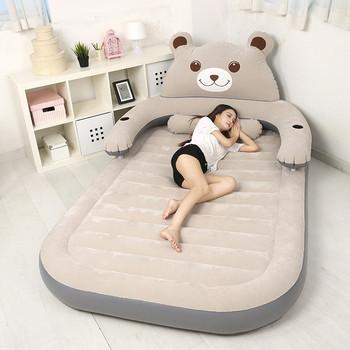 150CM * 230CM * 23CM składane łóżko Cartoon nadmuchiwane miękkie łóżko z oparciem Totoro łóżko Beanbag Cama materace meble do sypialni tanie i dobre opinie Domu łóżko Meble do domu Bedroom Furniture China Cartoon Bed 150CM*230CM*23CM Flocking Folding bear Rectangle bed Nowoczesne