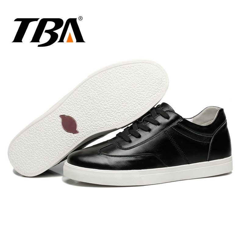 TBA Classic Men Sneakers Genuine Leather Men's Skateboarding Shoes Breathable Rubber Male Sneakers Lace Leisure Men's Sneakers