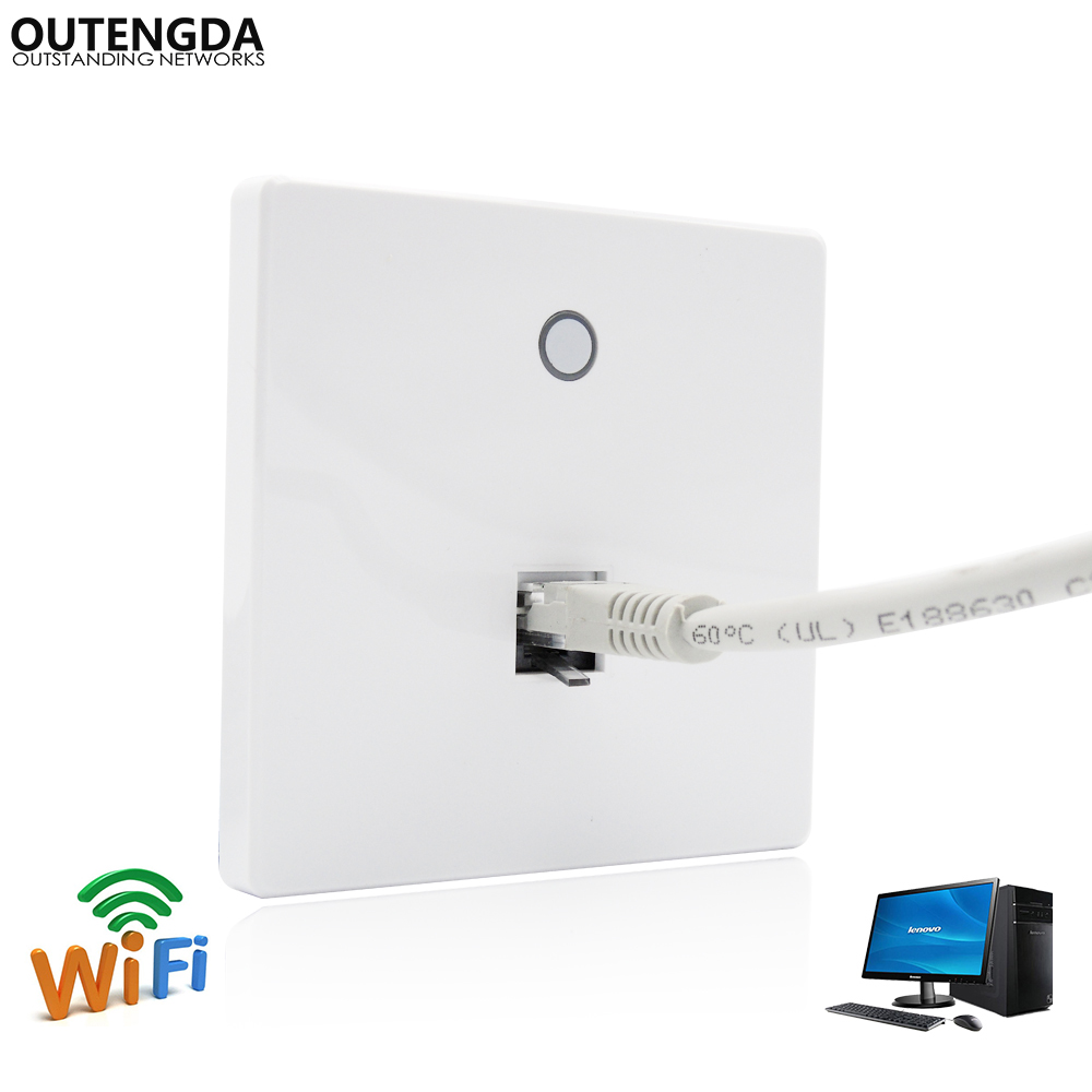 Dual Band IEEE 802.11ac 2.4 GHz/5 GHz In-wall Tomada de Ponto de Acesso Wi-Fi Sem Fio AP Router Wi-fi 750 Mbps