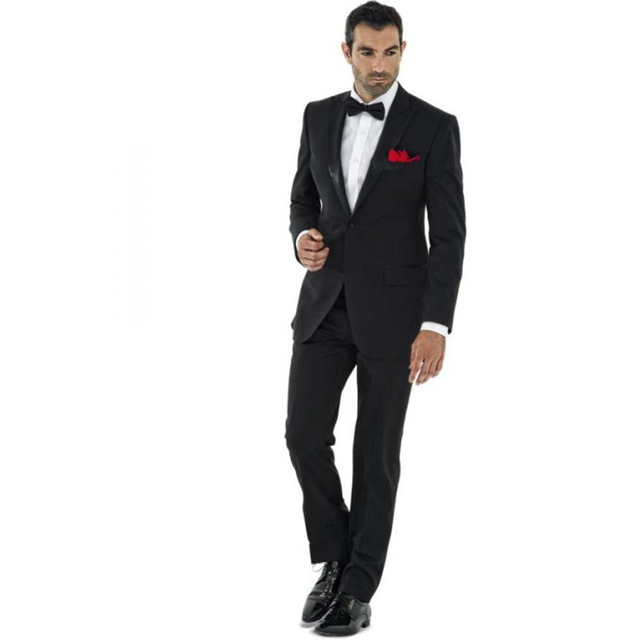 Black Suit Formal Wedding Suits For Men (Jacket Pants Bow Tie ...