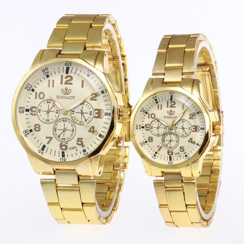 מכירה גדולה 11.11 מבצעים חמים 1 PC שעון זוג אוהבי יוקרה מינימליסטי שעון גברים נשים פלדת קוורץ שעוני יד שעון reloj Mujer