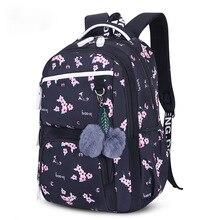 Litthing Children School Backpacks Korean Style Girls Bags Large Capacity Flower Printing Backpack Bag For Kids Mochila