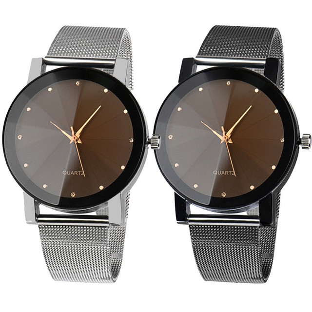 Womens Mens Quartz Watch 1 PC High Quality Dress Watch Crystal Stainless Steel A