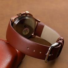 цена Genuine Leather Watchband 18mm 20mm 14mm 16mm 22mm Wrist Watch Strap Men High Quality Brown Black Watchbands Bracelet Belt Band в интернет-магазинах