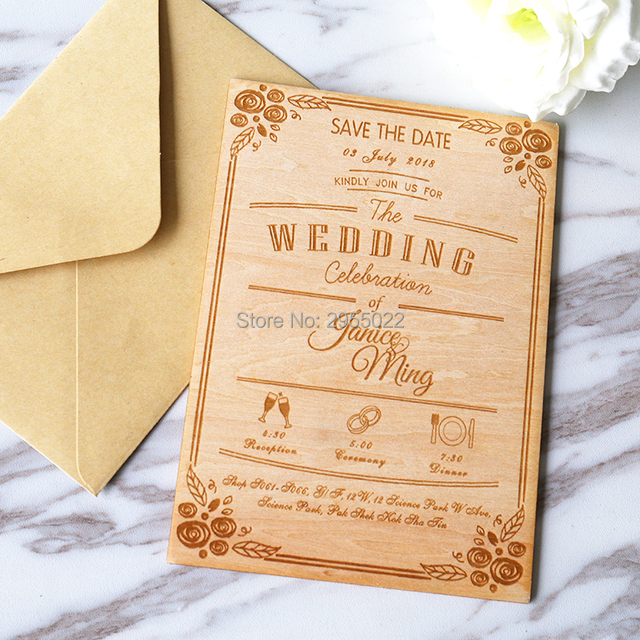 wedding invitations personalized cutting invitation card for wedding