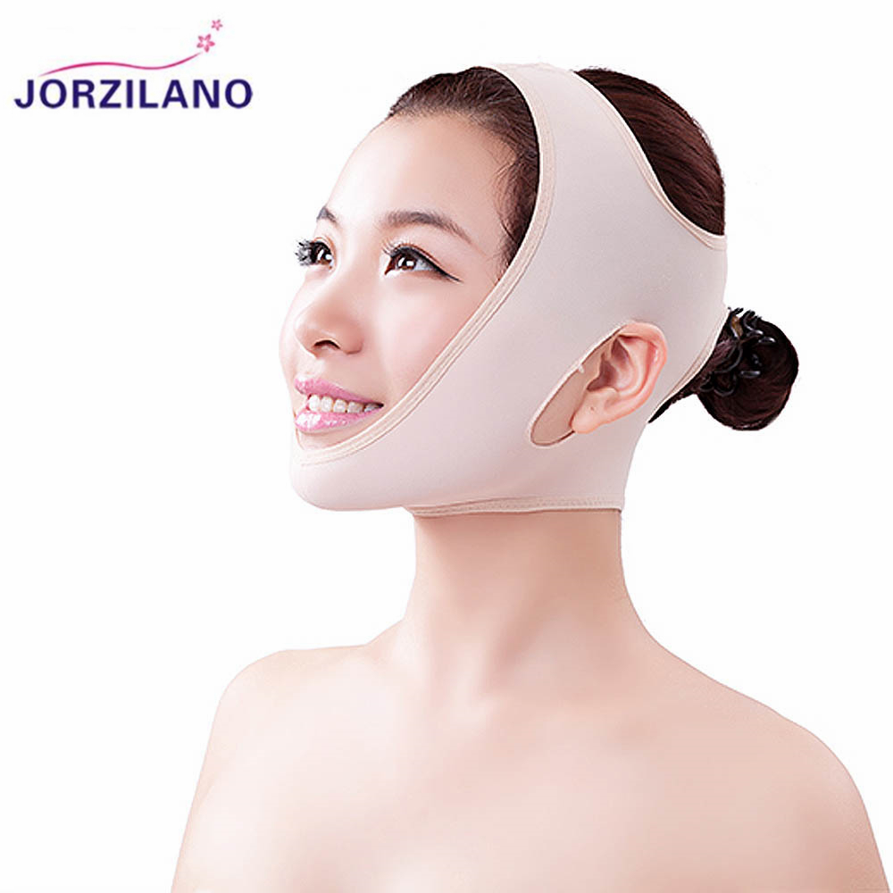 JORZILANO Women's Ultra-thin V Face Line Belt Strap Band Chin Cheek Slim Lift Up Anti Wrinkle Mask Health Care Thin Facial Mask health care body massage beauty thin face mask the treatment of masseter double chin mask slimming bandage cosmetic mask korea