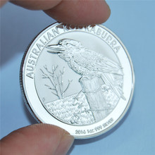Australia kookaburra coin 1 Dollar, Oz Silver Coin, Mint, 2016 oz 999 Sliver, Hot selling high quality copy