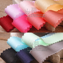 100yards 10/16/25/38mm wave edge picot grosgrain ribbon for kids hair bow accessories wedding party decoration bouquet packing