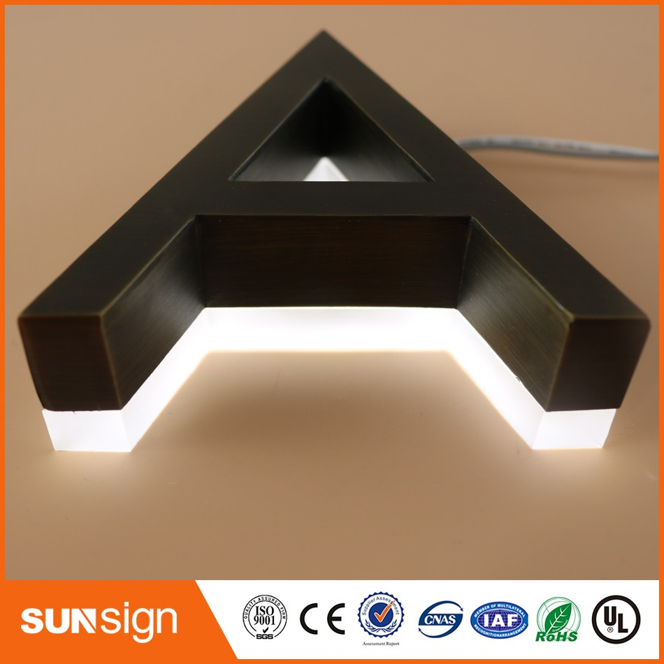 Custom Archaize Polished 3d Stainless Steel Letter Sign For Store