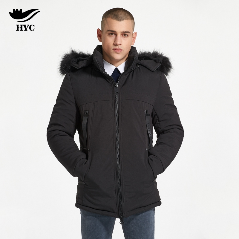 HAI YU CHENG Men Parka Coat Jackets Men's Winter Windbreaker Trench Coat Long Parka Warm Thick Parka Male Coat Mens