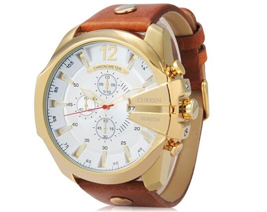 2017 Relojes Curren Men s Sports Quartz Watches Mens Watches Top Brand Luxury Leather Wristwatches Relogio