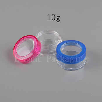 Plastic Cream Jar,10G Portable Travel Mini Sample Container,Bright Powder, Eye Shadow Packing Container,100PC Small Makeup Cans