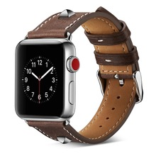 Leather Strap for Apple Watch Strap 44mm 42mm 38mm 40mm Straps Nylon Series 4 3 2 1 Bands Bracelet for iWatch 4 Bands 44mm Band