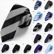 Fashion Striped Men Ties 5cm Slim Tie  Mens Luxury Skinny Neckties Corbatas Gravata Jacquard Wedding Dress