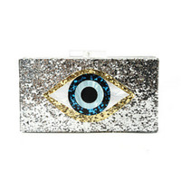 Botom Brand Top Quality Bling Eye Acrylic Handbag Shoulder Evening Bag Luxury Designer Clutch Phone Cosmetics