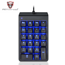 MOTOSPEED K22 Mechanical Red Witch USB Mini Numeric Keypad Wired Backlight Keyboard 22 Keys Numpad Extended Layout For Office