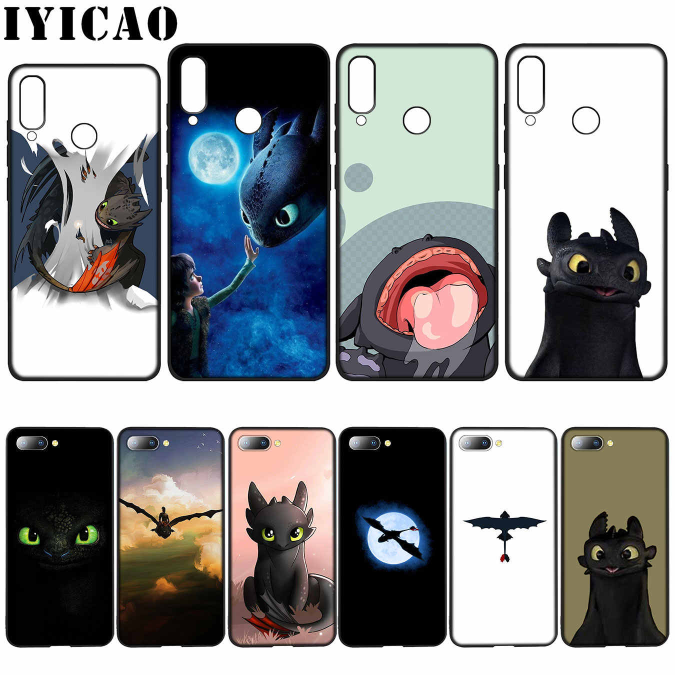 IYICAO sdentato How To Train Your Dragon Custodia Morbida per Huawei Y7 Y6 Prime Y9 2018 Honor 8C 8X8 9 10 Lite 6A 7C 7X 7A Pro