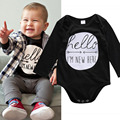 2017 Newborn Baby Romper Clothing Long Sleeve Letters Printed Cotton baby Rompers Girls Boys Clothes infantil costumes