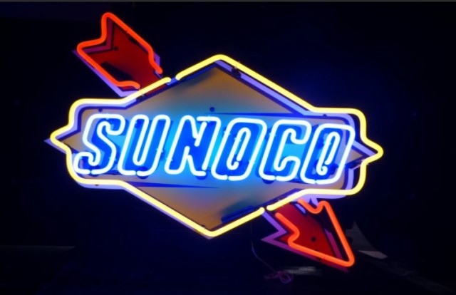 SUNOCO Neon Light Sign Beer Bar