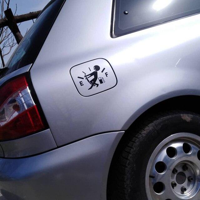 Car Fuel Tank Cover Sticker 12cm 9cm High Gas Consumption For Lexus Es250