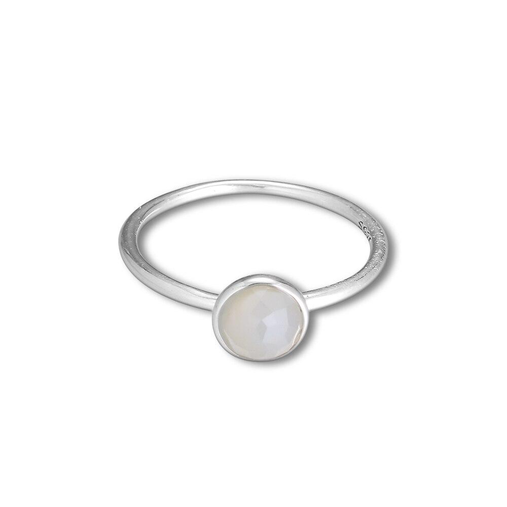 CKK 925 Sterling Silber June Droplet, graue Mondsteinringe für - Edlen Schmuck - Foto 2