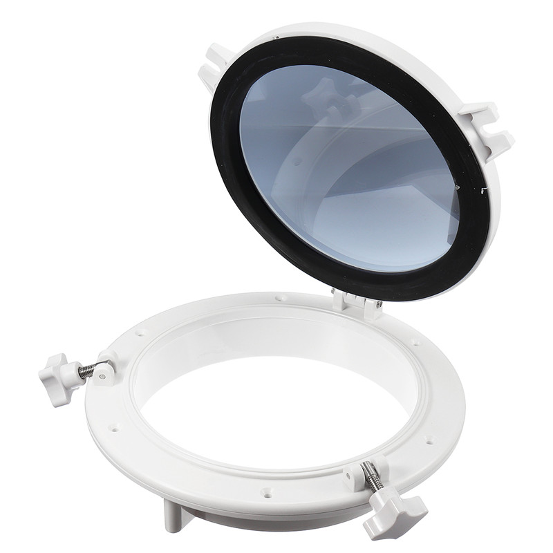 1Pc 10 Inch White Round Yacht Boat RV Car Porthole RV Waterproof Skylight Industry Cars Replacement Window Portholes Accessories