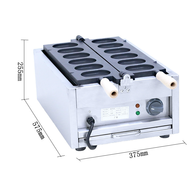 110V 220V Commercial 6pcs Electric Taiyaki Waffle Maker Machine Non-stick Hongkong Egg Snack Making Machine EU/AU/UK Plug digital taiwan taiyaki machine taiyaki waffle making machine
