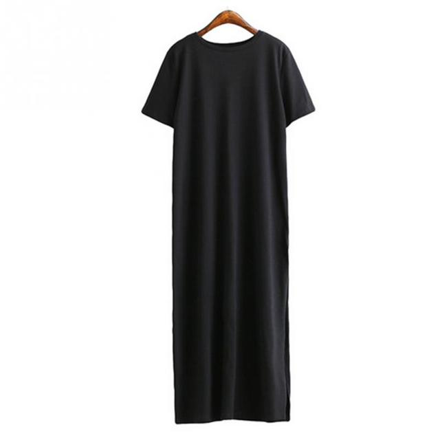 Maxi T Shirt Dress Women Summer Beach Sexy Kim Kardashian Ukraine Kyliejenner Linen Bohemia Long Black Bodycon Dresses Plus Size 3
