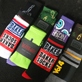 New Men Socks Fashion Casual Strange Alphanumeric Symbols Eye Skeleton Hand Cotton Socks Free Shipping